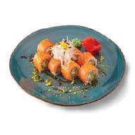 Манго/лосось с лаймовым соусом Фото