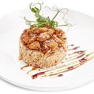 Рис с овощами и курицей Фото