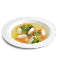 Суп с куриными кнелями и овощами Фото