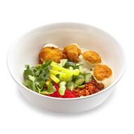 Рис с курицей и соусом сливочный карри Фото