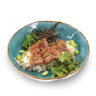 Лаймовый рис с говядиной и соусом понзу Фото