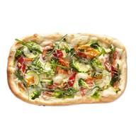 Постная пицца с кокосовым соусом,овощами Фото
