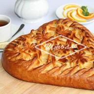 Пирог Сердце с лососем и шпинатом Фото