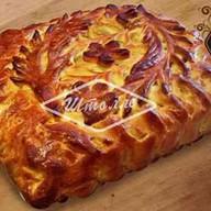 Пирог с курицей, брокколи и сыром Фото