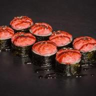 Запеченный с креветкой под соусом яки Фото