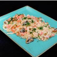 Паста сливочный лосось Фото