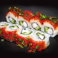 Рубленый тунец с креветкой под соусом Фото