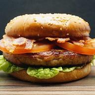 Бургер 5 Курица и бекон Фото