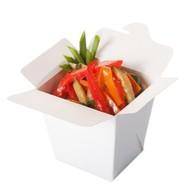 Гречневая лапша с креветкой и овощами Фото