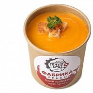 Суп-пюре тыквенный с гренками Фото