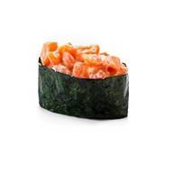 Запеченный лосось (гункан) Фото