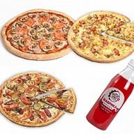 Комбо 3 пиццы + морс 0,5 л Фото