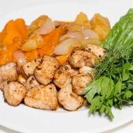 Овощное рагу с курицей Фото