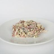 Салат с копчёностями Фото