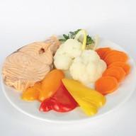 Сёмга на пару с овощами Фото