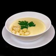 Суп сырный с крутонами Фото
