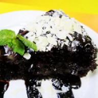 Пирог шоколадно-грушевый Фото