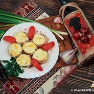 Шампиньоны с сыром Фото