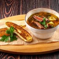 Суп из красной чечевицы с ребрышками Фото