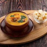 Сырный крем-суп с карельской форелью Фото