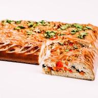 Овощной пирог с рисом и баклажанами Фото