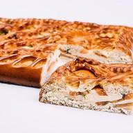 Пирог с сыром и помидорами Фото