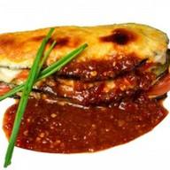 Запеченный баклажан с мясом Фото