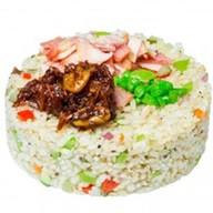Рис с беконом в ХО соусе Фото