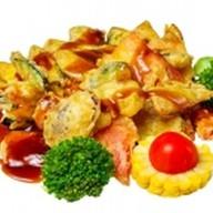 Овощи в терияки Фото