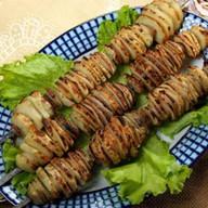 Картошка с салом на мангале Фото