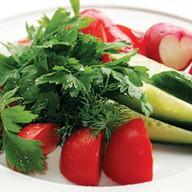 Свежие овощи (гарнир) Фото