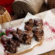 Куриная печень на мангале Фото
