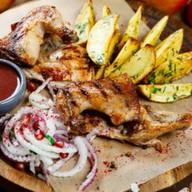 Цыплёнок по-гальски (соусом ткемали) Фото