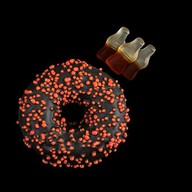 Пончик с начинкой Кола Фото