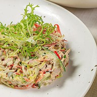 Салат с печёной свининой и корнишонами Фото