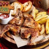 Цыплёнок по-гальски с соусом ткемали Фото
