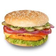 Чизбургер с белой булочкой Фото