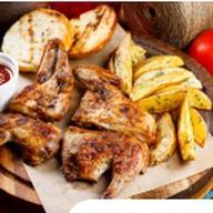 Цыплёнок по-гальски (с соусом ткемали) Фото