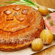 Пирог c ветчиной Фото