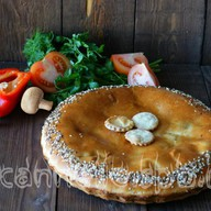 Пирог с гречей и грибами Фото
