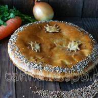 Пирог с гречей и морковью Фото
