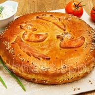 Пирог c куриным филе Фото