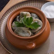Пельмени богатырские со шпинатом,грибами Фото