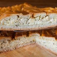 Пирог ржаной с курицей и сыром фета Фото
