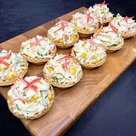 Тарталетки с крабовым салатом (за сутки) Фото