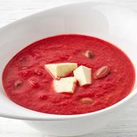 Суп-смузи из свеклы с томатами и фасолью Фото