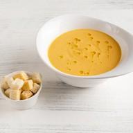 Суп-пюре с цукини и томатами Фото