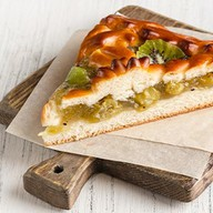 Пирог с крыжовником и киви Фото