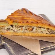 Пирог веганский с капустой, грибами Фото