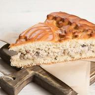 Пирог с курой и грибами Фото
